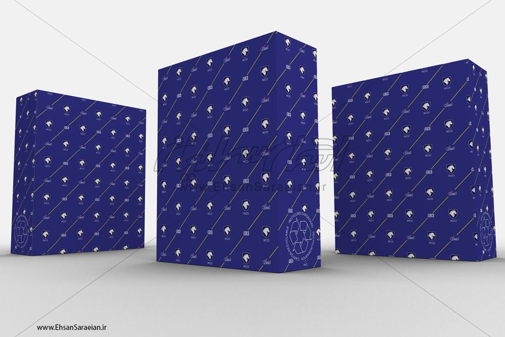 طراحی مجدد جهت چاپ اختصاصی بسته بندی قطعات ایساکو / Dedicated for printing for packing redesign the parts Isaco