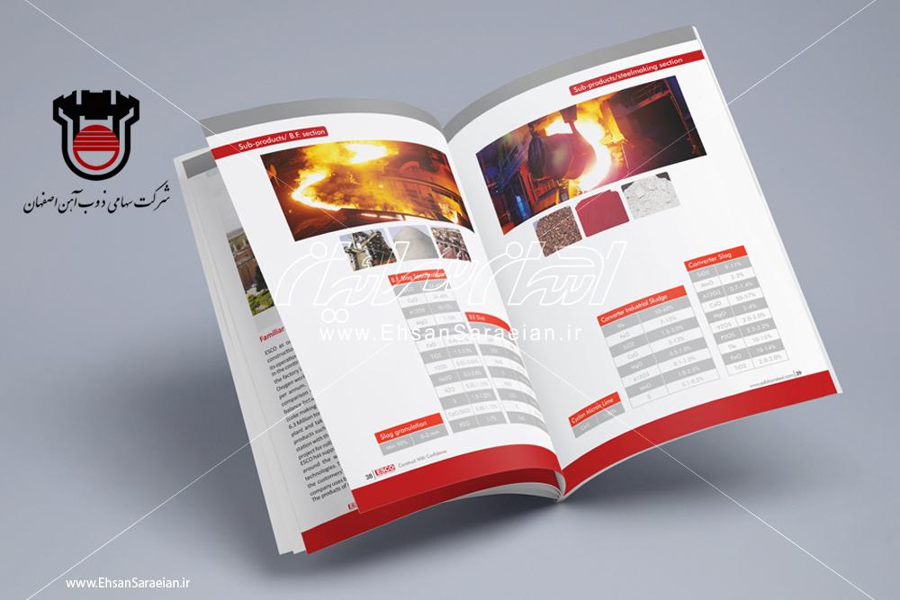 کاتالوگ لاتین محصولات ذوب آهن اصفهان / Latin catalogs of products ESCO